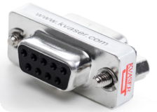 kvaser dsub 9 pin 120 ohm termination adapter