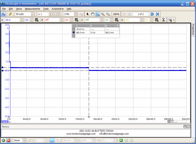Audi Battery Discharge - Pico Scope Diagnostic Image