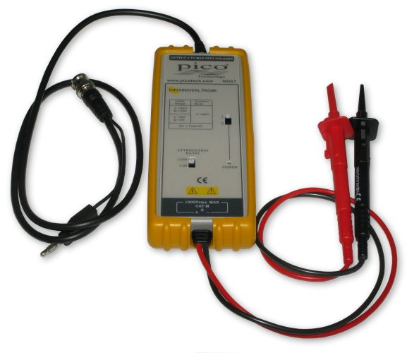 25 MHz, 1400 V Differential oscilloscope probe x20/x200